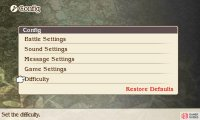 "Go to ""Tactics"" in the main menu, then go down to ""Config"" and ""Difficulty"" to adjust these settings."