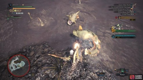 Hunt for Gajau in the southeastern swamp areas of the Wildspire Waste