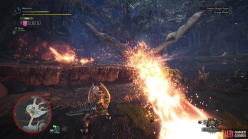 "Along with bites and annoying ""charge"" attacks, the Rathian can spit fireballs with tremendous force, sometimes in volleys of three"