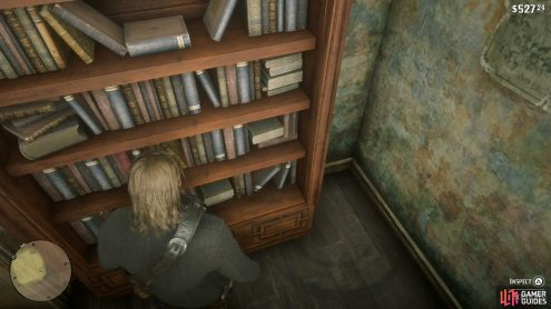 Search the bookshelf at the back to find the door to the captives