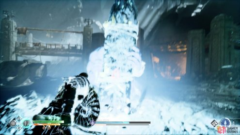 slamming his pillar will cause a Frost shockwave.
