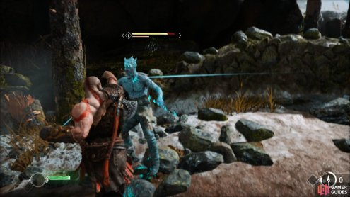 make use of Kratos' fists to stun these enemies quickly.