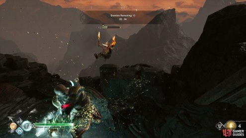 Make use of the cliffs in Muspelheim for easy kills