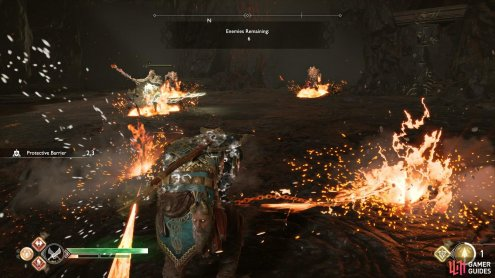 Prometheus Flame is great when there's a group of enemies out.
