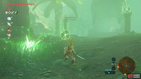 Be wary of the Lizalfos shooting Shock Arrows