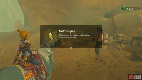 Zyle will buy your horse for a gold Rupee