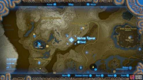 Here is the specific location of Hebra Tower