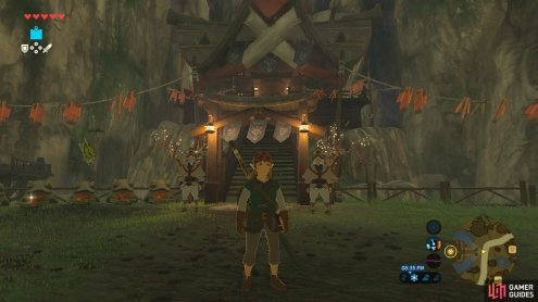 This is where Impa's house is located. There are two guards, but they'll let you through