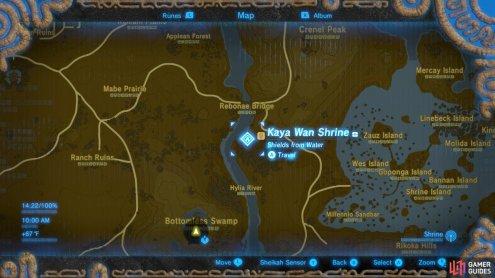 Here is the specific location of the Kaya Wan Shrine