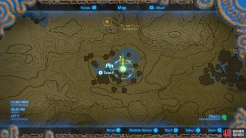 Here is the location of the Middle Kin Hinox