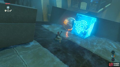 Use the same Cryonis trick from before so the puzzle ball ends up right here