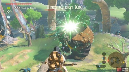 The Oldest Kin is a Black Hinox and has the most health