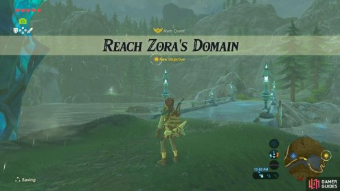 To get to the Zora's Domain is a quest all on its own