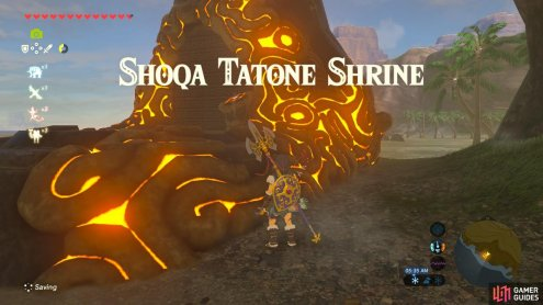 "Unlock this Shrine by completing the Shrine Quest ""Guardian Slideshow"""