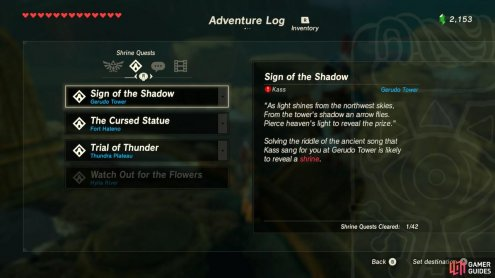 It seems we have to do something about the sun's shadow to unlock a hidden Shrine