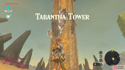 The Tower is surrounded by Ganon goop.
