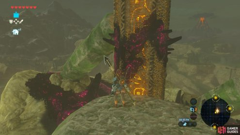 Beware the goop on the sides as you climb the tower itself