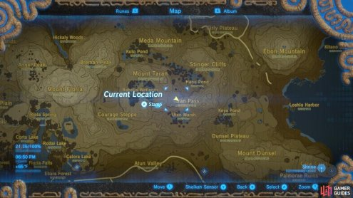 Here is the location of the rock slab