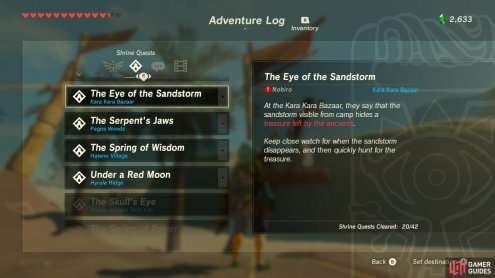 The Legend Of Zelda Breath Of The Wild Gamer Guides