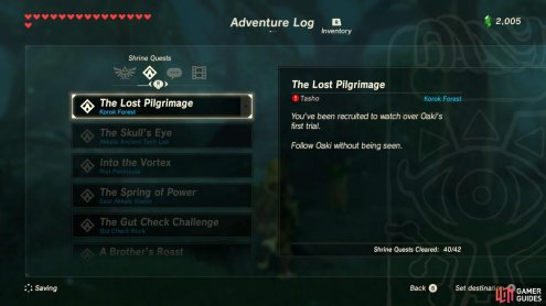 The core point of this Shrine Quest is stealth, so have stealth armor or stealth elixirs/food