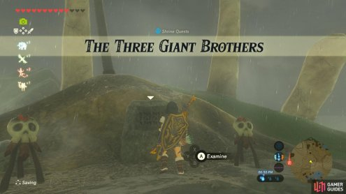 This Shrine Quest involves defeating three Hinoxes