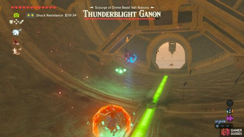 Thunderblight Ganon's ranged attack is slow and easy to dodge