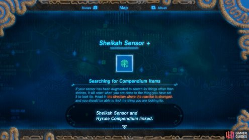 Upgrading your Sheikah Sensor will trigger another sidequest