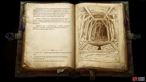 and beyond that you'll need to navigate a trapdoor via an Illustrated Book Episode.
