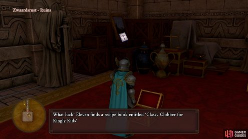 alongside the Purple Orb is another Recipe Book.