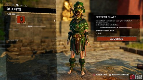 Serpent Guard outfit