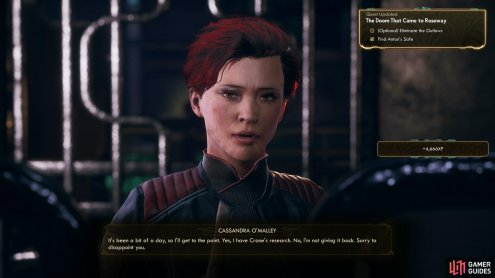 Cassandra will admit to having attacked the lab, and possessing Anton's data.