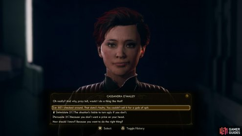 You can also talk Cassandra into handing the stolen data over - it's the only way you're getting a monetary reward from Anton or Gladys for this quest.