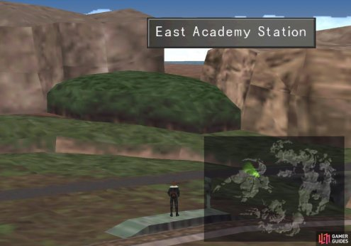 Your next destination is a forest northwest of the East Academy Station