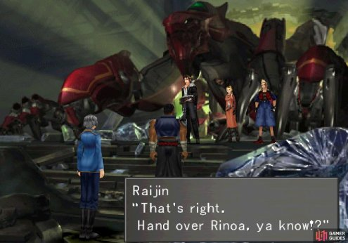 wherein you'll shortly find yourself confronted by Raijin and Fujin.