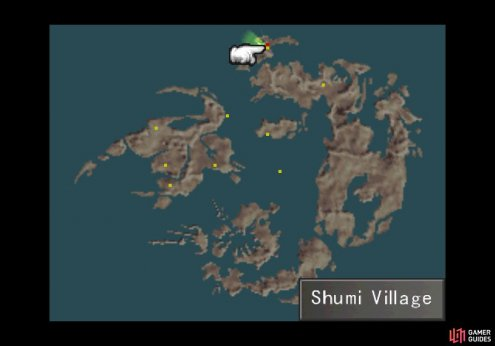 The location of the Shumi Village on the world map