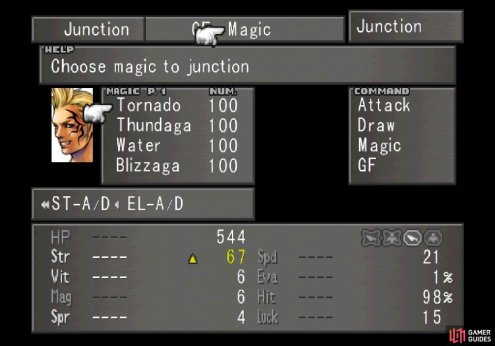 then junction this high-end magic to your stats to significantly boos their stats
