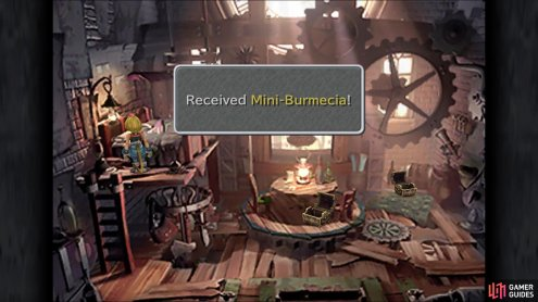Likewise, you can snag the Mini-Burmecia in Tantalus' hideout