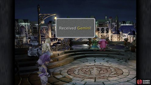 Throwing in coins in the fountain at the entrance will eventually net you the Gemini coin