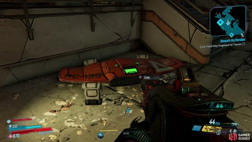 On your way over to the Rooftop lift, make sure to grab the Red Chest that's in the center of the room,
