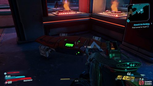 The Red Chest can be found hiding behind a cooking station at the ticket area in the back left corner,