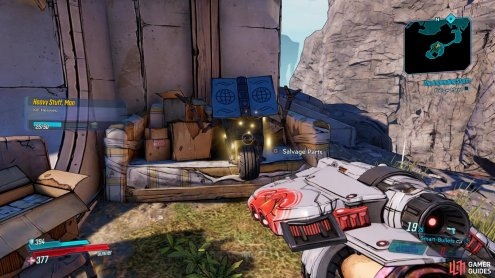 grab the Claptrap after defeating the Heavy.
