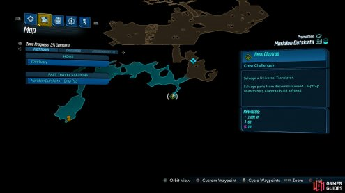 Search the southern cave to the east of the Drop Pod