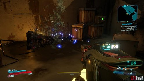 then enter the room to your left to find the Dead Claptrap.