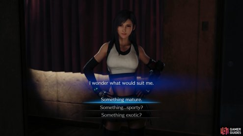 If you complete all the quests in Chapter 3 you'll be able to spend some quality time with Tifa, where your opinion may have some far-reaching consequences...