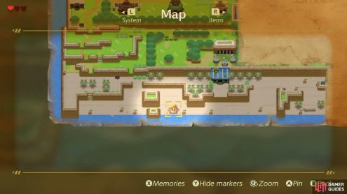 Head over to this location on the map to find Link's Sword,