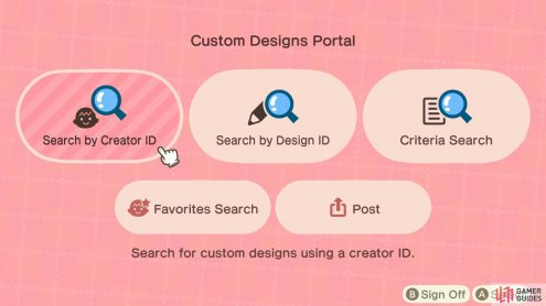 and then to find specific designs you'll need creator or design IDs.