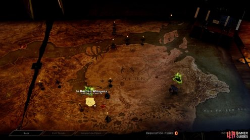 Select 'In Hushed Whispers' on the map to begin the quest with the mages.