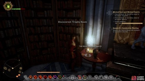 Be sure to thoroughly explore each room while using the search function to find all Scandalous Secrets.