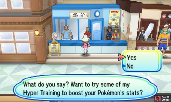 Hyper Training fixes imperfect Pokemon.