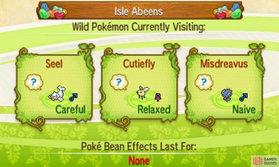Wild Pokemon are attracted by the scent of Poke Beans.